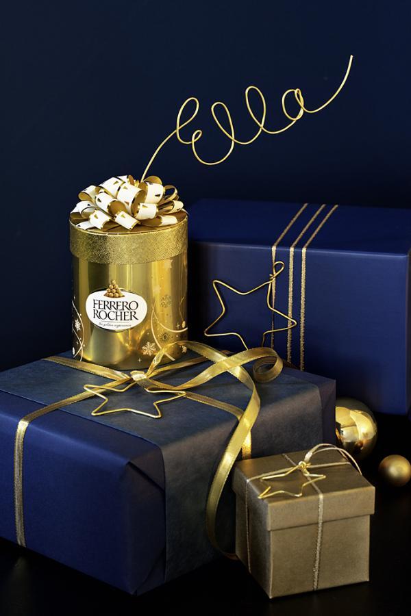 Festliche Pralinenpackung von Ferrero Rocher